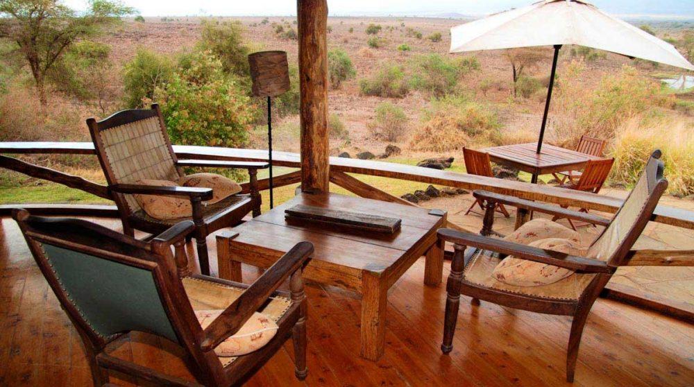 Le restaurant à Amboseli