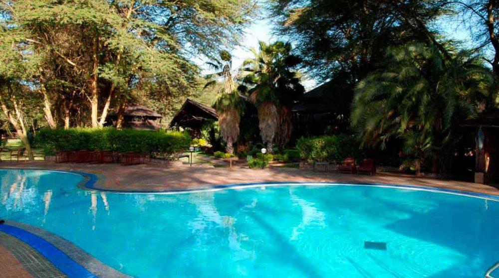 La piscine à Amboseli