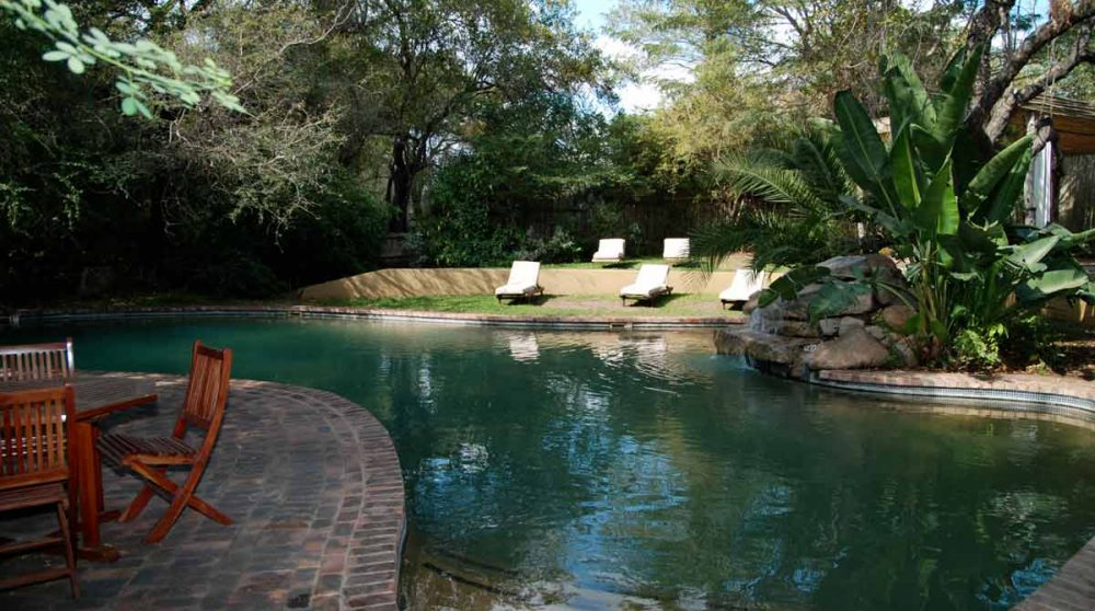 Vue sur la piscine en Afrique du Sud