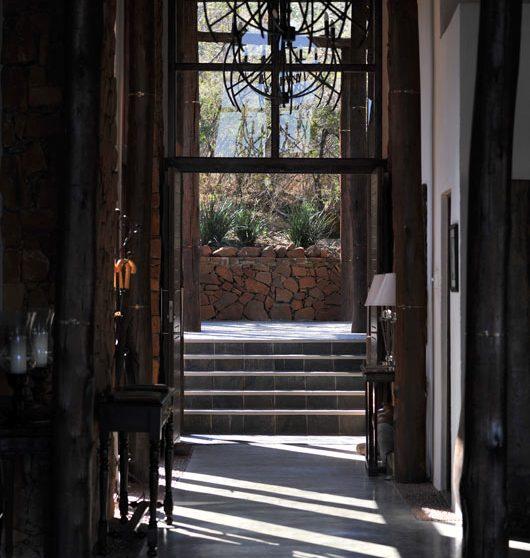 Un couloir de l'hôtel dans le Kwazulu Natal
