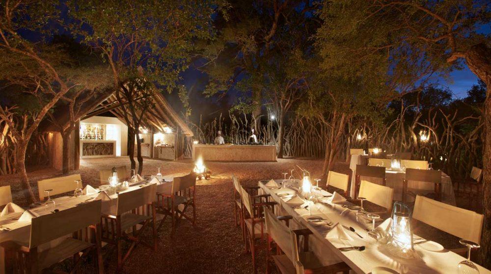Un dîner nocturne en Afrique du Sud