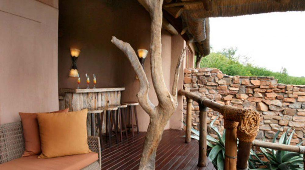 La terrasse près du Madikwe Game Reserve