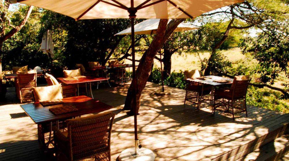 La terrasse dans le Kwazulu Natal
