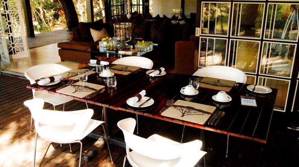Table du restaurant dans le Kwazulu Natal