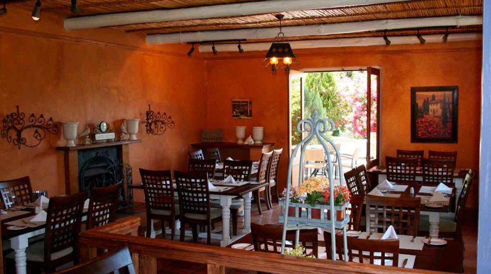 Le restaurant pour les déjeuners à Franschhoek