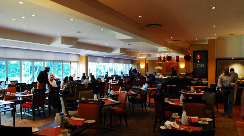 La salle du restaurant en Afrique du Sud