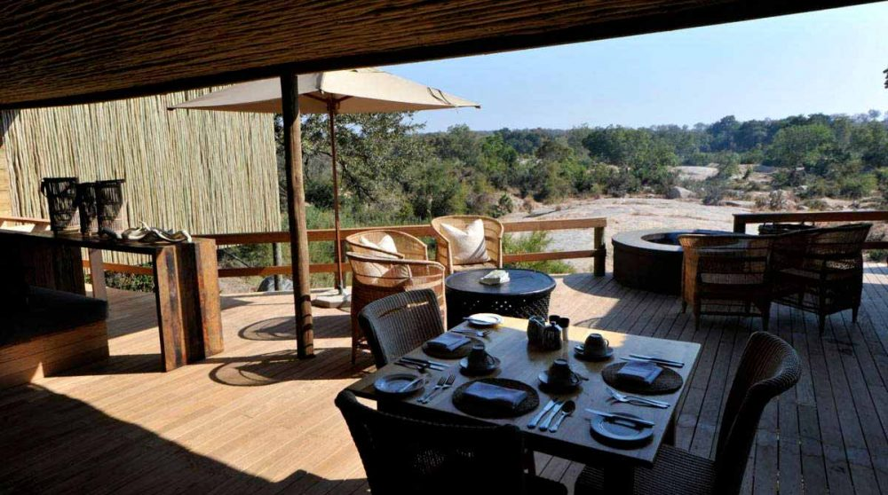 La vue depuis la terrasse à Sabi Sand