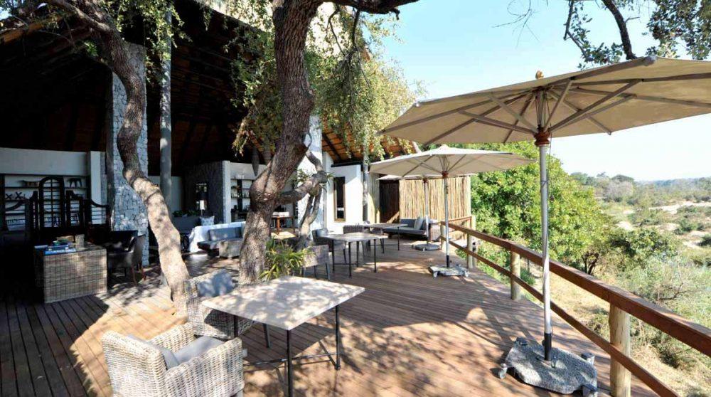 Parasol sur la terrasse en Afrique du Sud