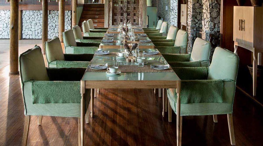 La salle à manger à Timbavati