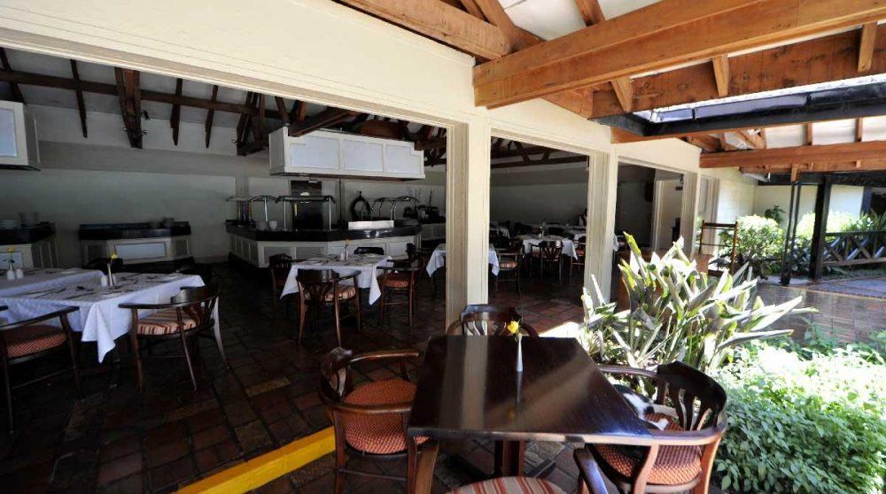 La terrasse du restaurant à Nairobi