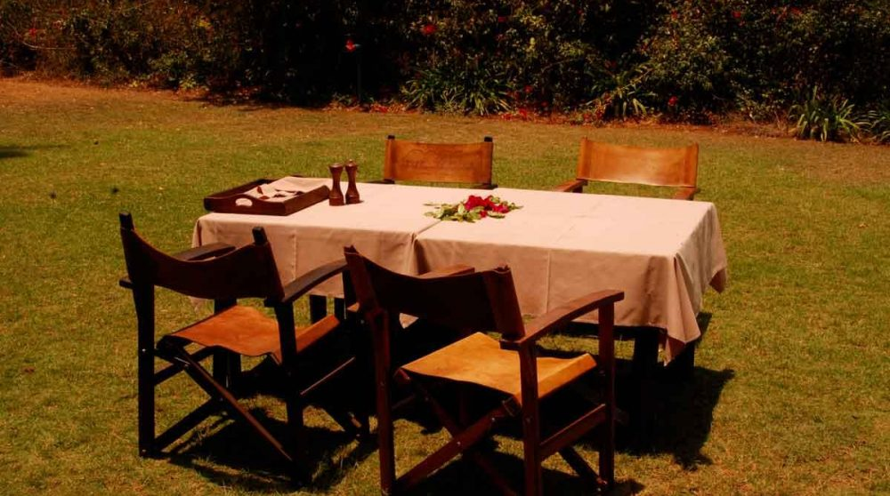 Déjeuner dans le jardin à Nairobi