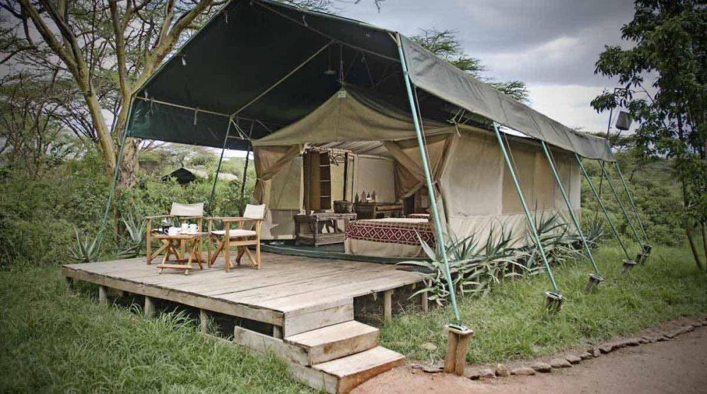 L'une des 6 tentes