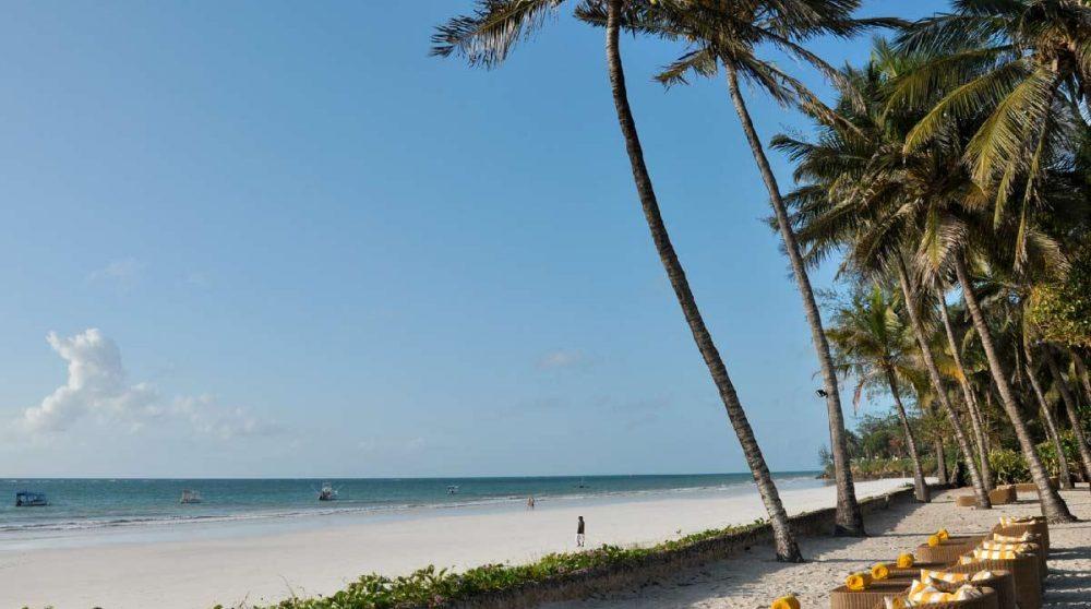 La sublime plage au Kenya