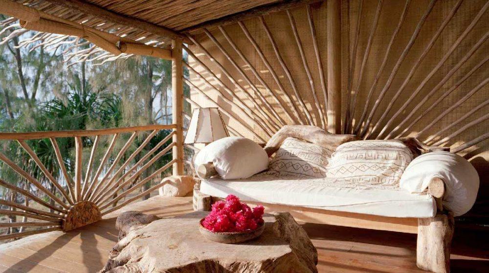 Canapé pour se reposer à l'Alfajiri Beach Villa