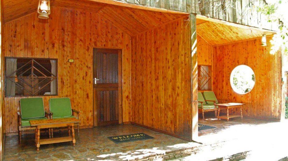 Extérieur d'une cabane au Kenya
