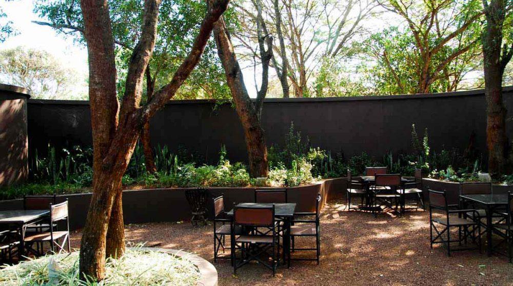 Le jardin de l'hôtel Falaza