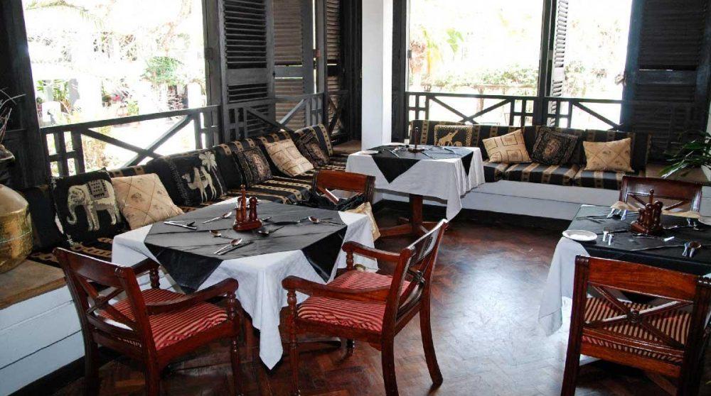 Le restaurant de l'Indian Ocean Beach Club