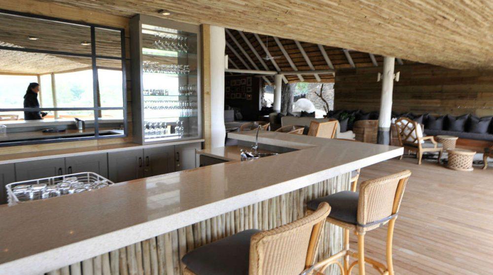 Le bar du Londolozi Founders Camp