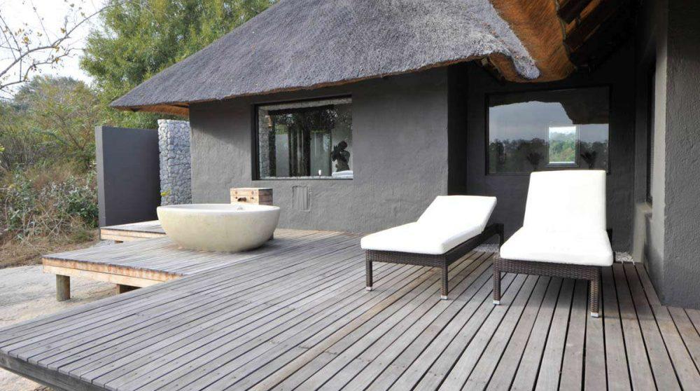 Terrasse au Londolozi Granite Suites