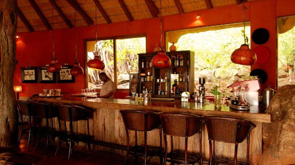 Le bar de l'hôtel Madikwe Hills