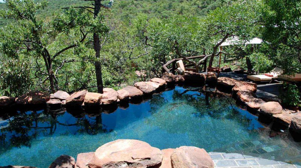 La piscine du Makweti Safari Lodge