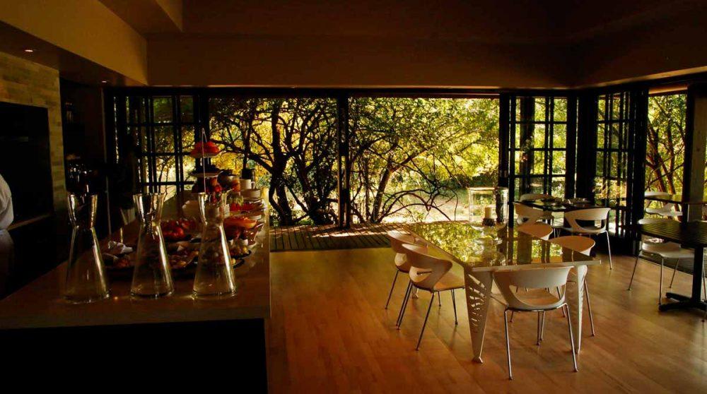Le restaurant du Phinda Forest Lodge