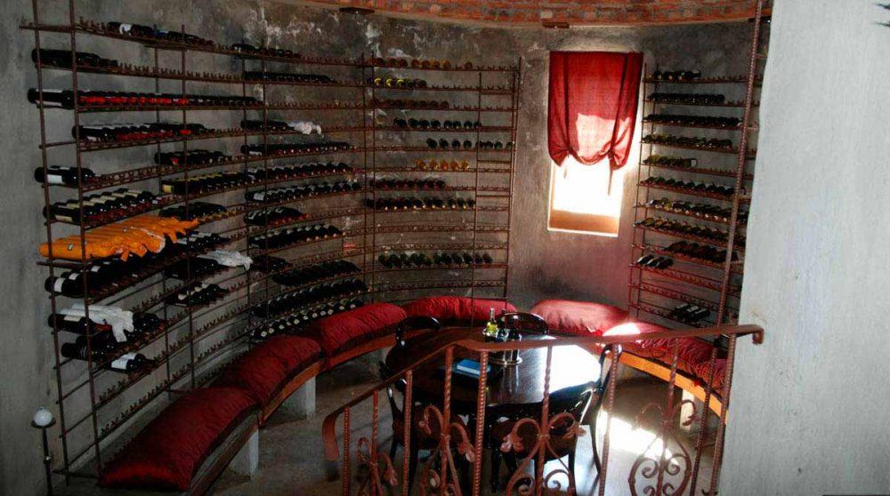 La cave à vins du Tintswalo Safari Lodge