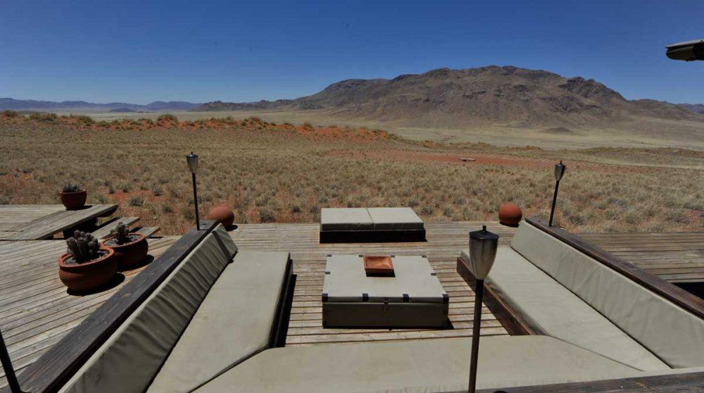 Banquette pour se reposer au soleil en Namibie