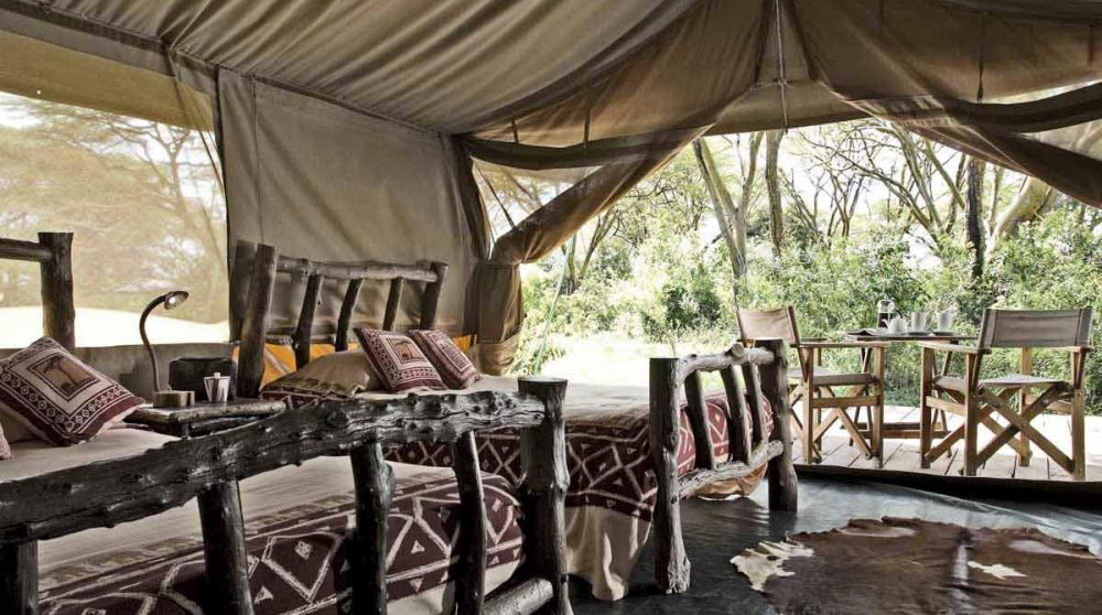 Dans l'une des 6 tentes