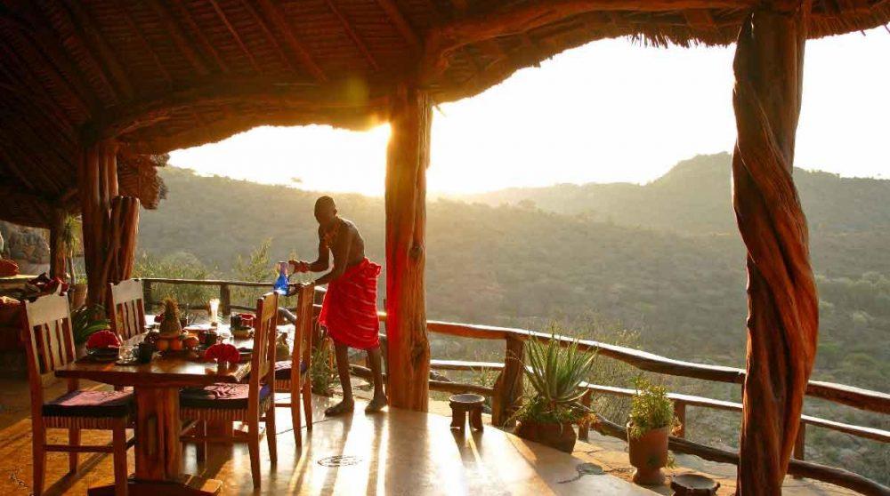 Autre vue de la terrasse au Kenya