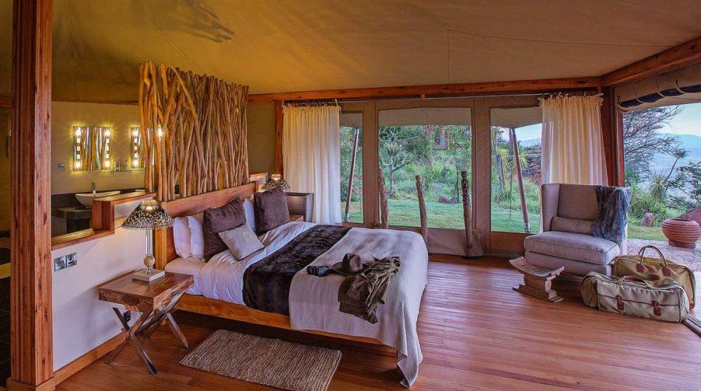 Son lit au Kenya