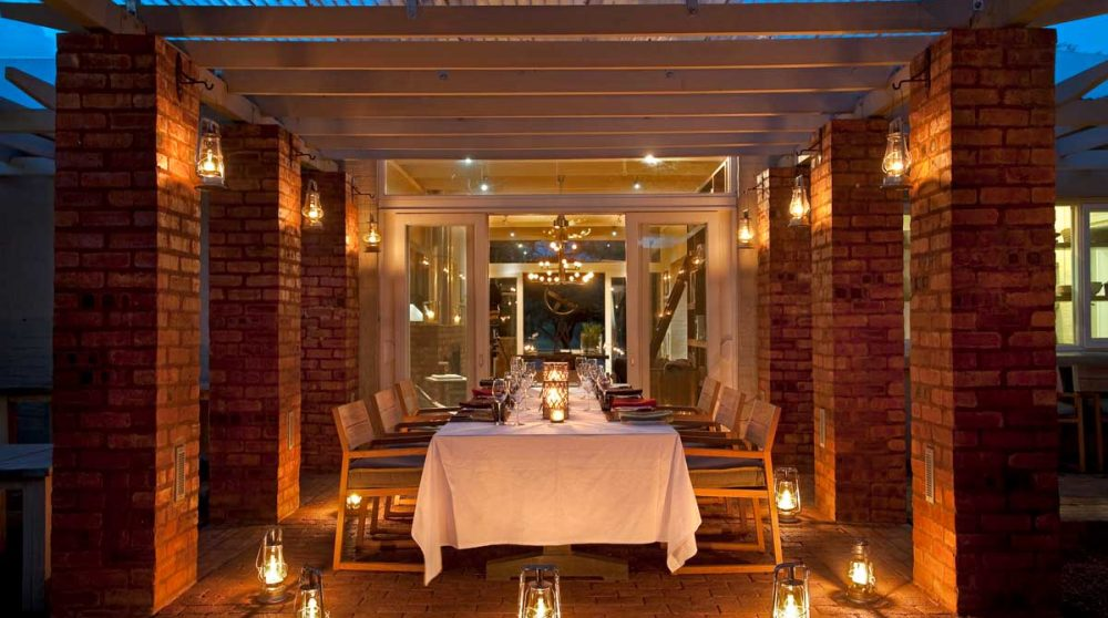 Un dîner à l'hôtel en Afrique du Sud