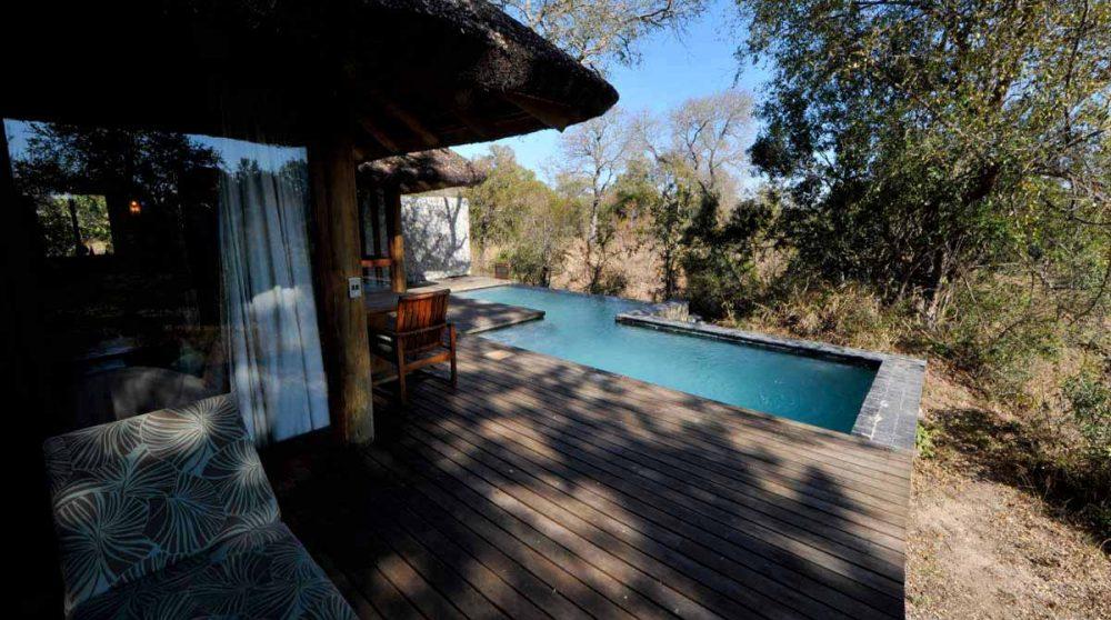 Autre vue sur la piscine en Afrique du Sud