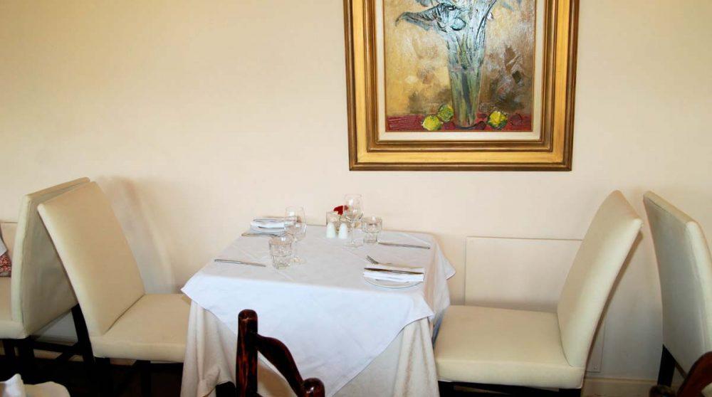 Une table au restaurant en Afrique du Sud