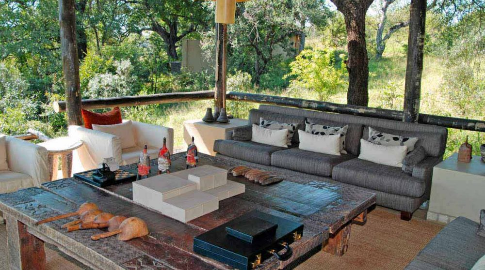 Salon sur la terrasse en Afrique du Sud