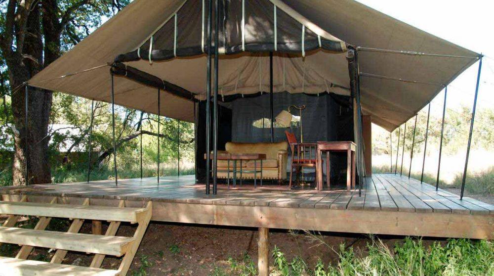 Une tente du lodge au parc Kruger