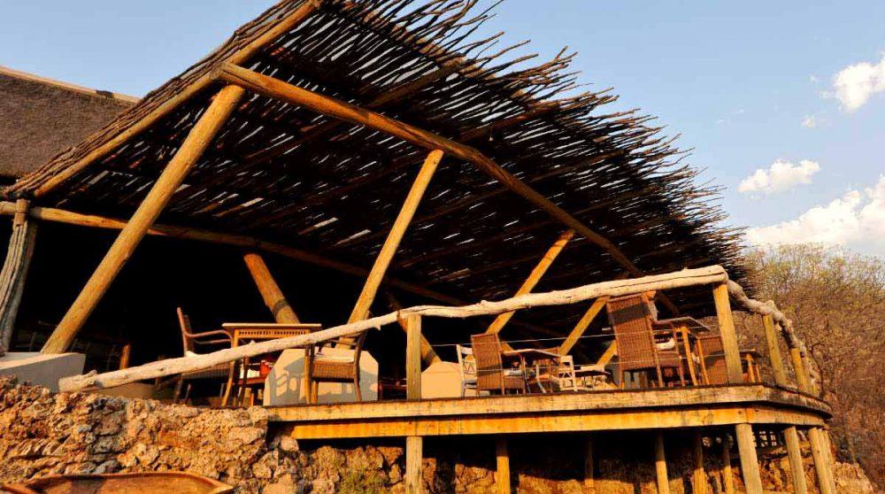 Coucher de soleil sur la terrasse en Namibie