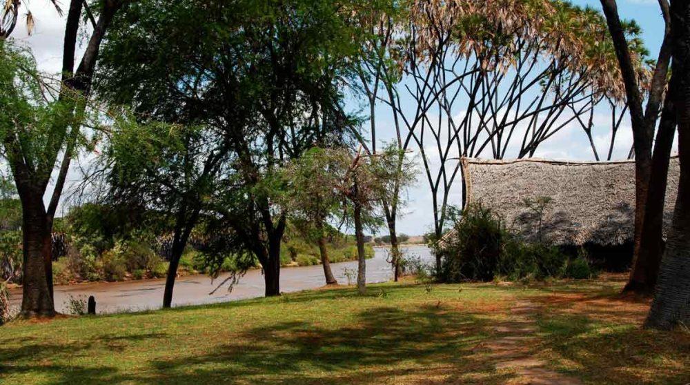 Vue sur la rivière au Kenya