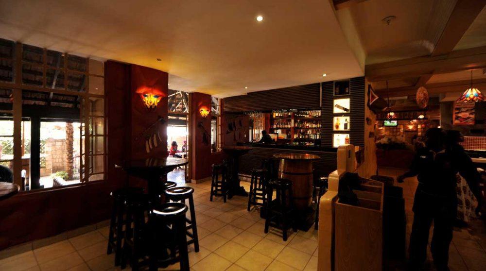 Le bar de l'hôtel au Kenya