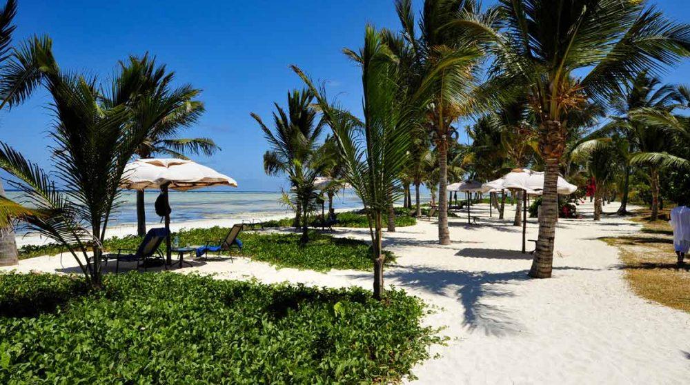 Accès à la plage à Zanzibar