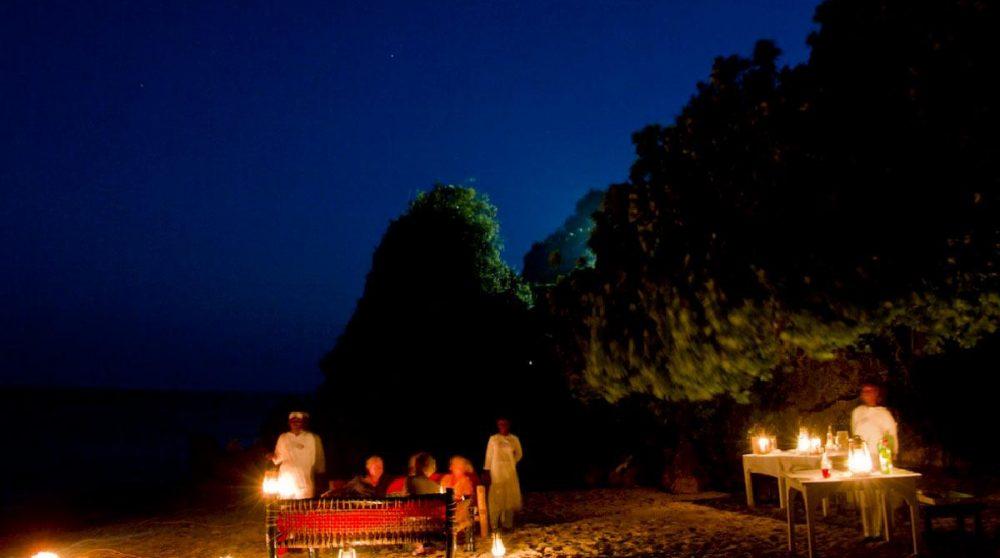 Diner à la bougie au Kenya