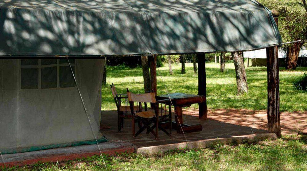 Extérieur d'une tente au Kenya