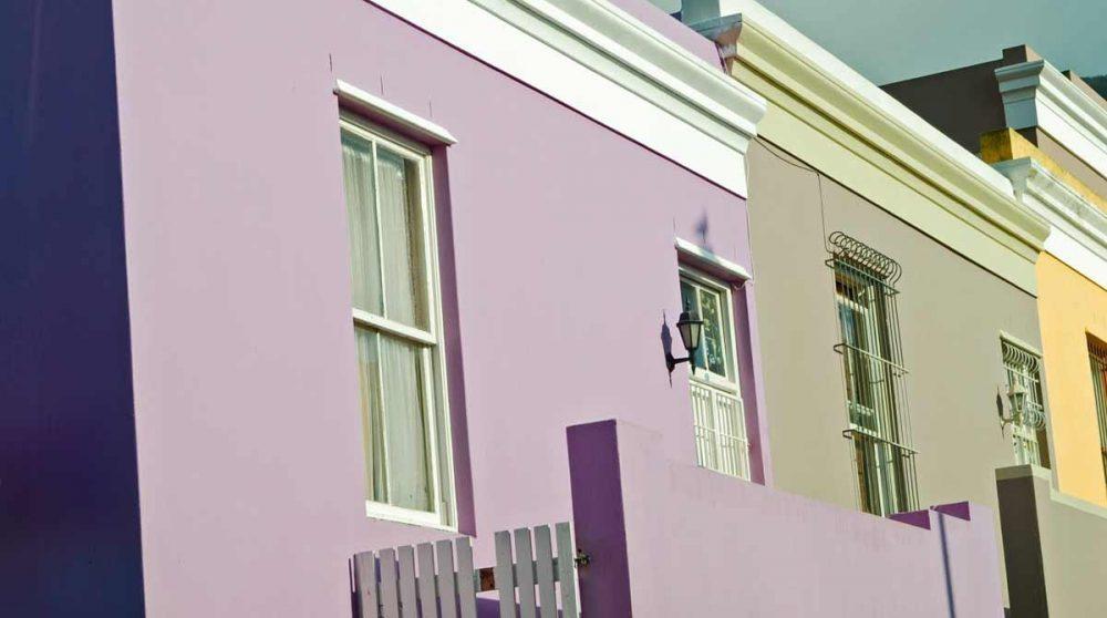 Maisons colorées à Cape Town