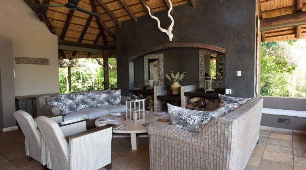 le salon extérieur dans le Mpumalanga