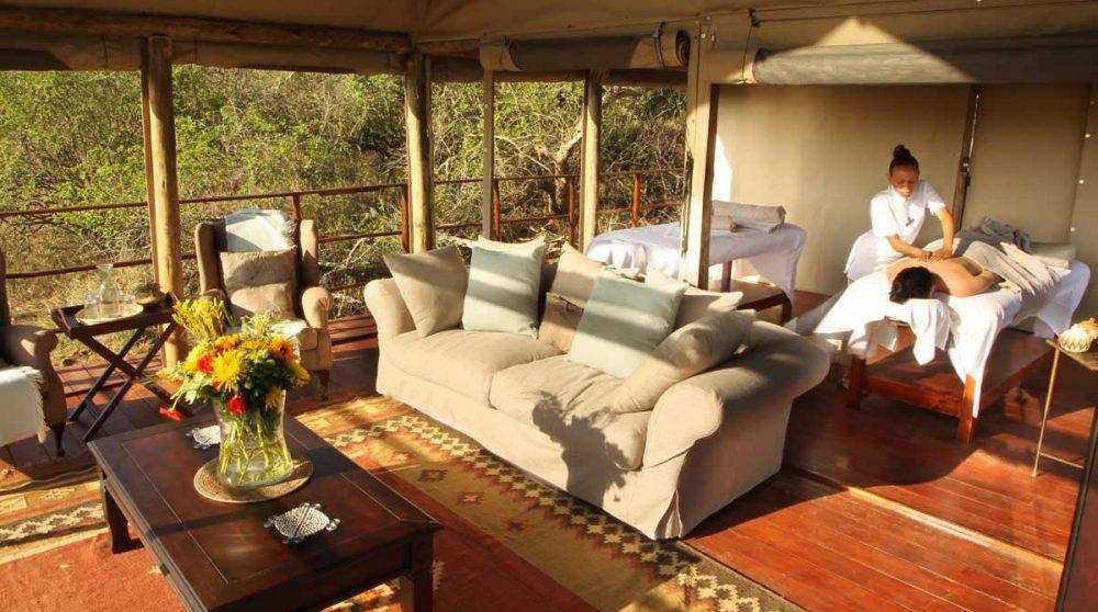 Le spa de l'hôtel en Afrique du Sud