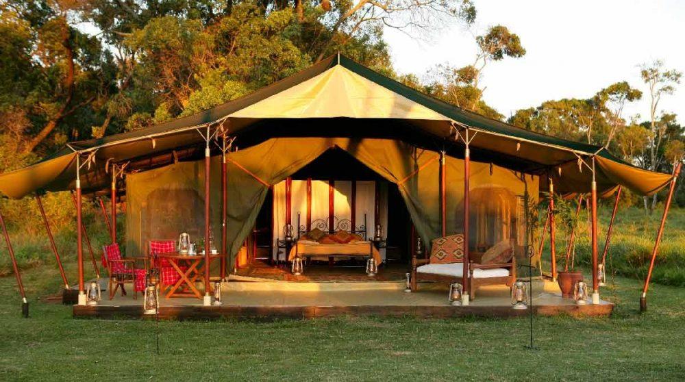 Extérieur d'une tente