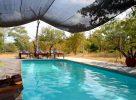 La belle piscine ombragée