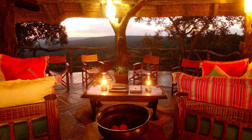 Une soirée sur la terrasse
