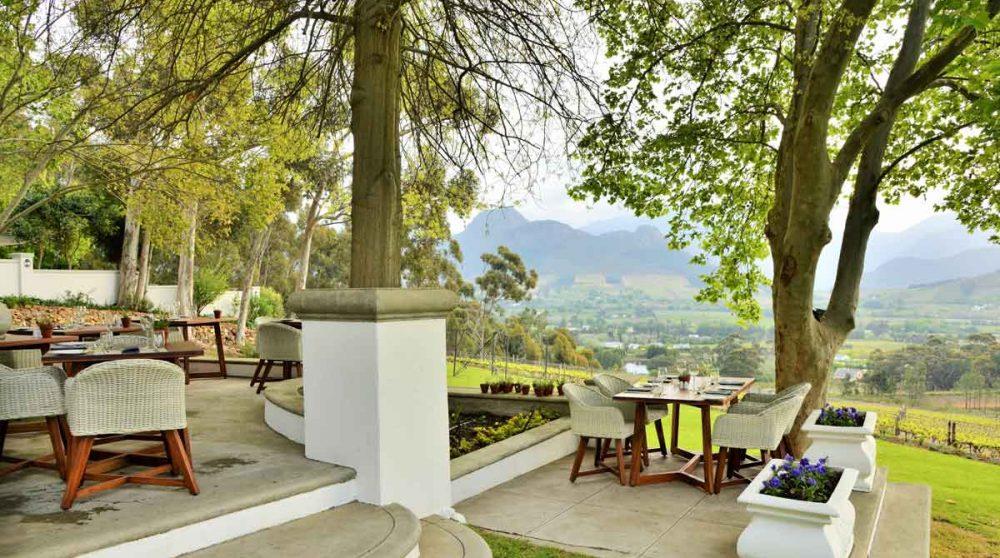 Autre vue de la terrasse du restaurant en Afrique du Sud