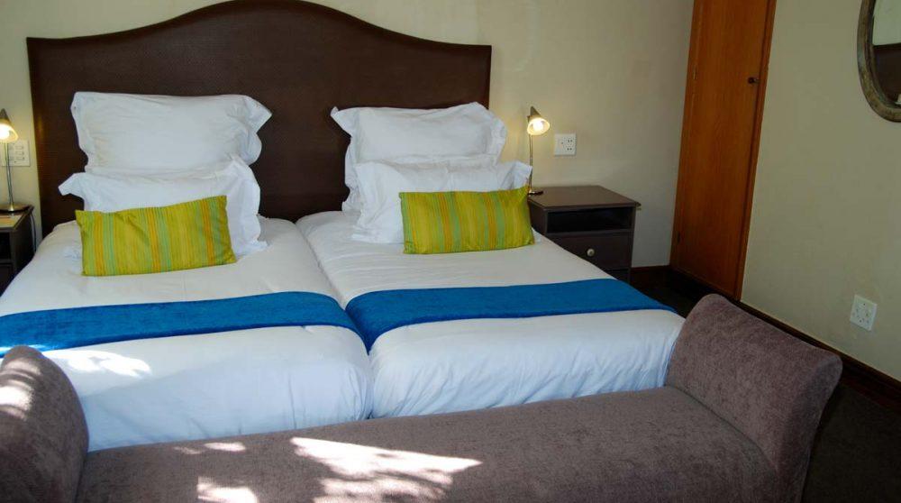 Le lit d'une chambre luxury